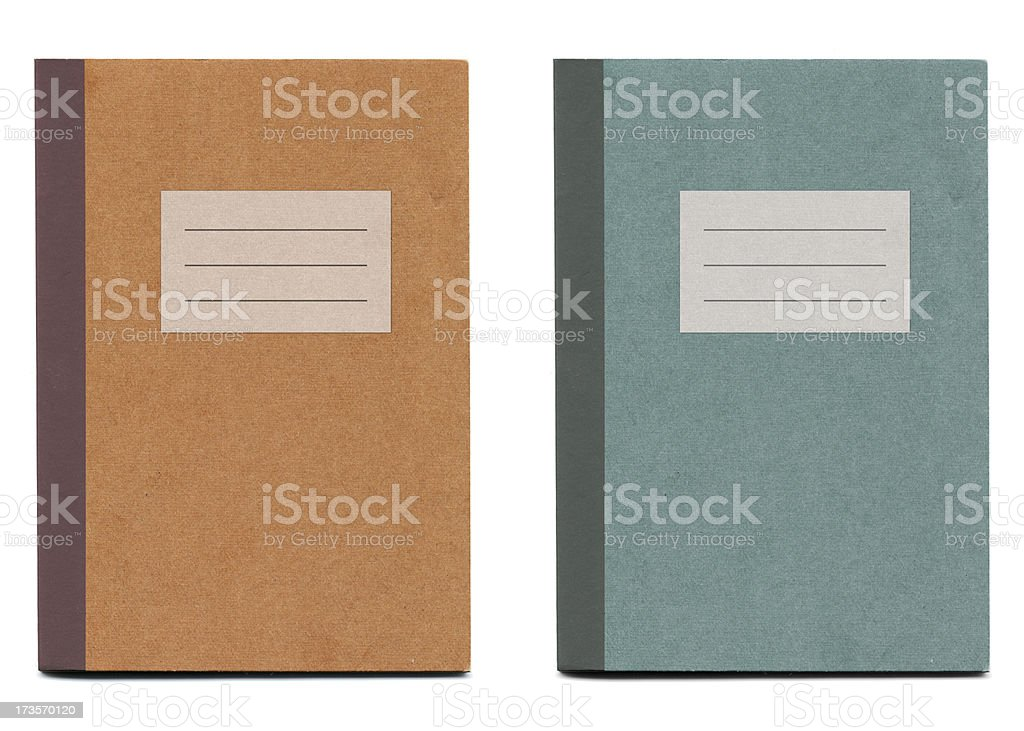 Notebooks 2 (with blank label) stock photo