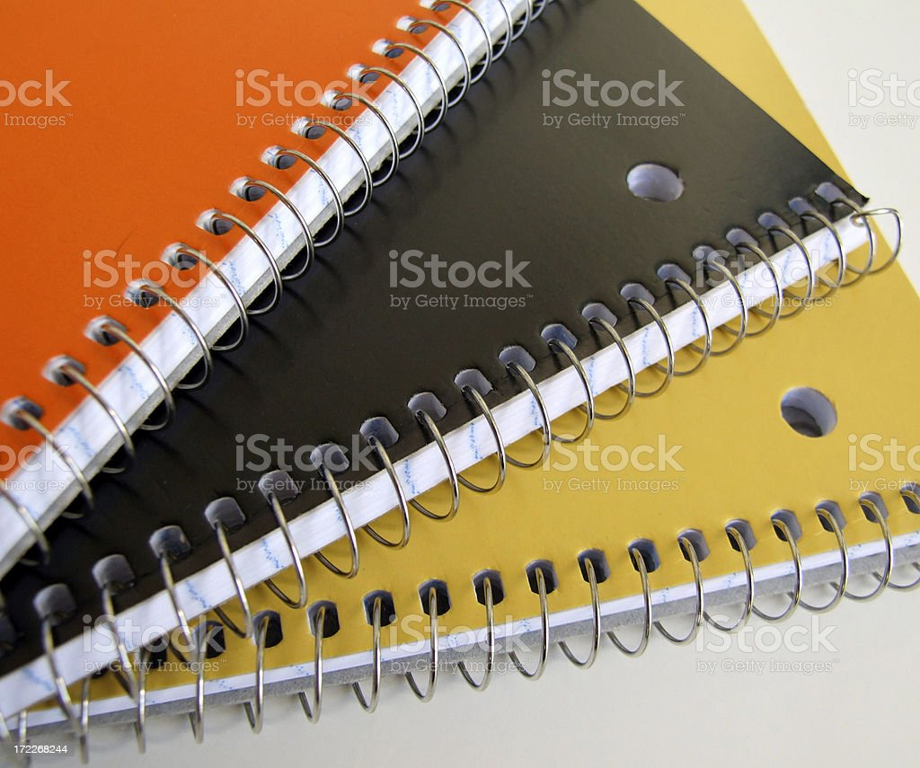 Notebooks Again royalty-free stock photo