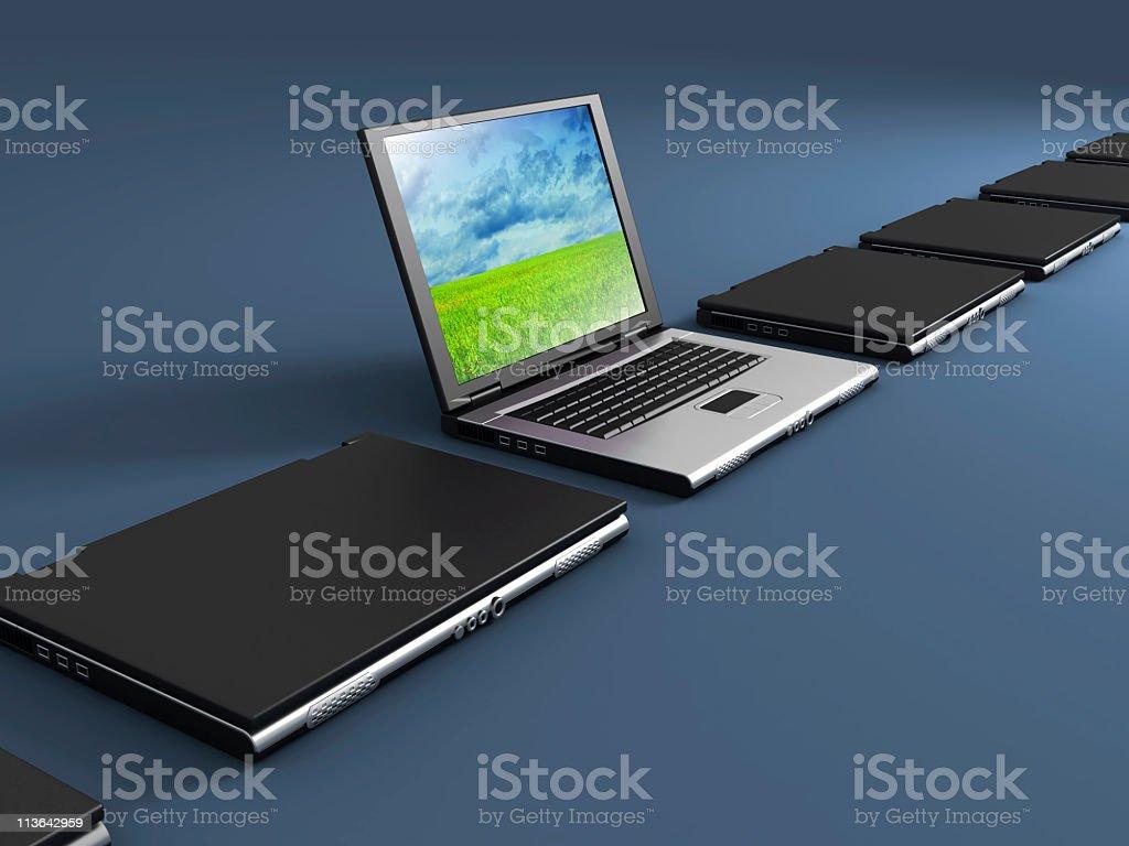 Notebooks arrangment royalty-free stock photo