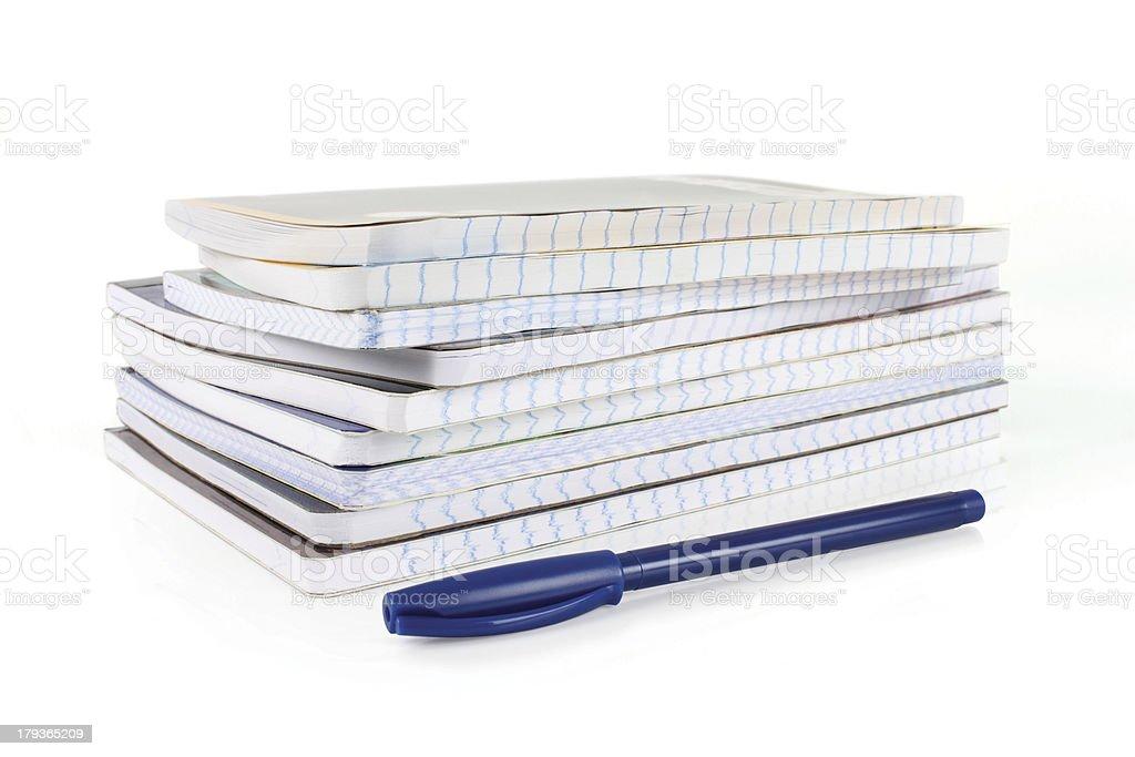 notebooks stock photo