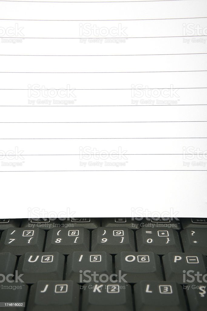 notepad and laptop royalty-free stock photo