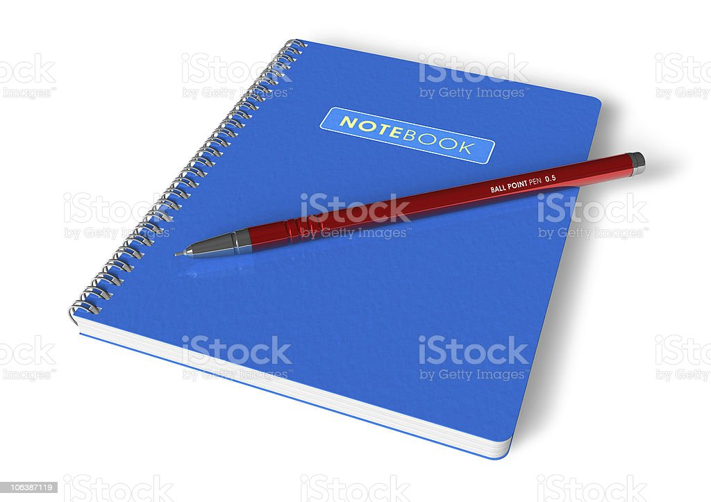 Notepad and pen royalty-free stock photo