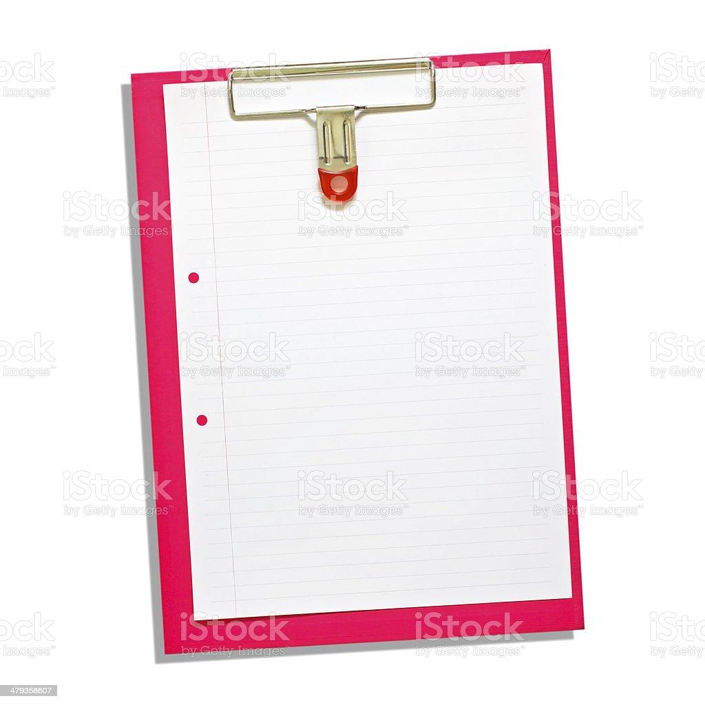 Notepad isolated on white background royalty-free stock photo