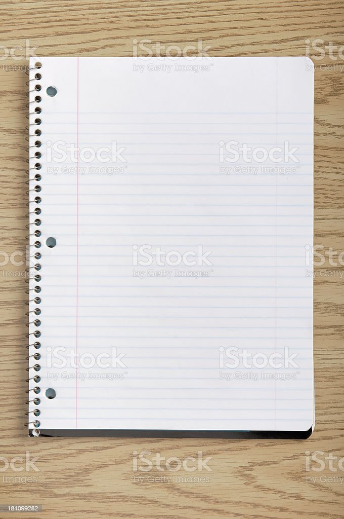 notepad on a desk royalty-free stock photo