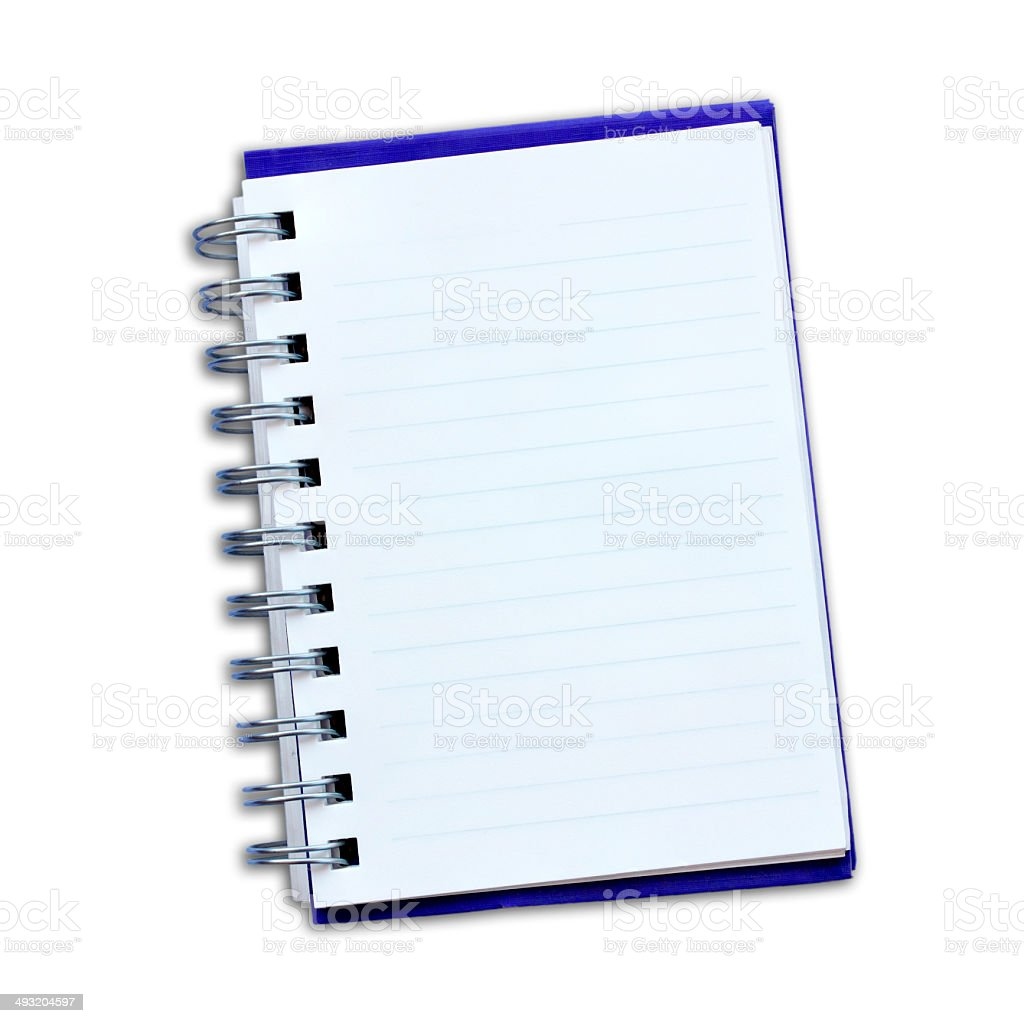 Notepad  on a white background. royalty-free stock photo