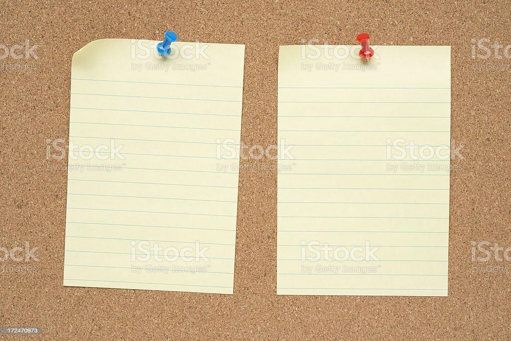 Notepad on Bulletin Board royalty-free stock photo