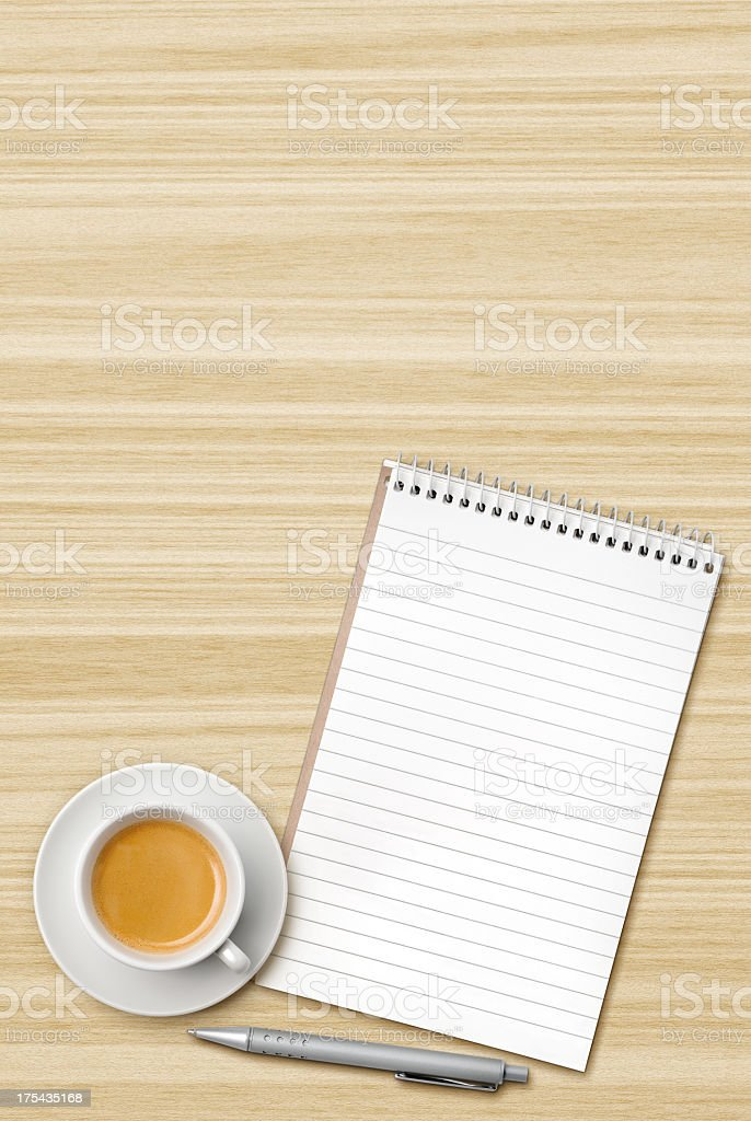 Notepad on table royalty-free stock photo