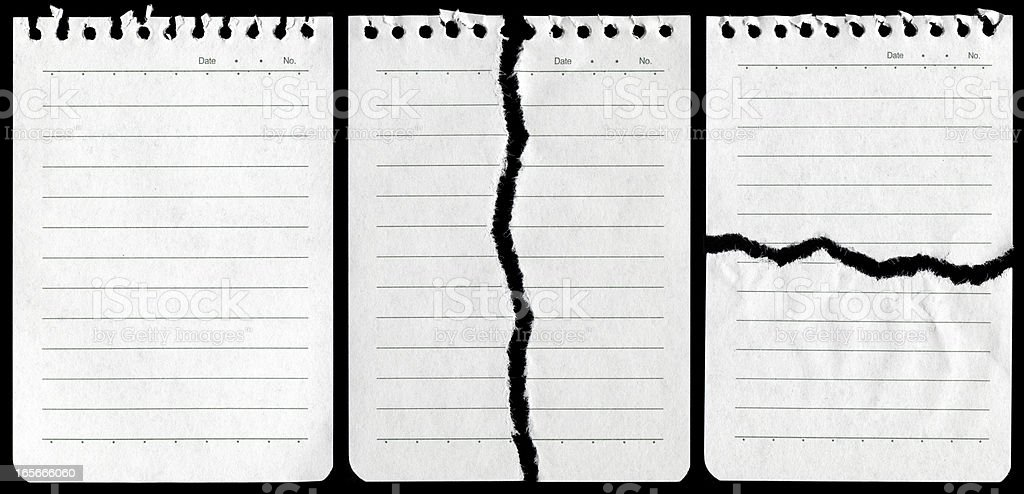 Notepad page background textured isolated royalty-free stock photo