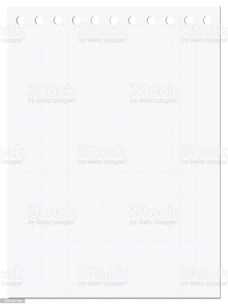 notepad page isolated on white stock photo