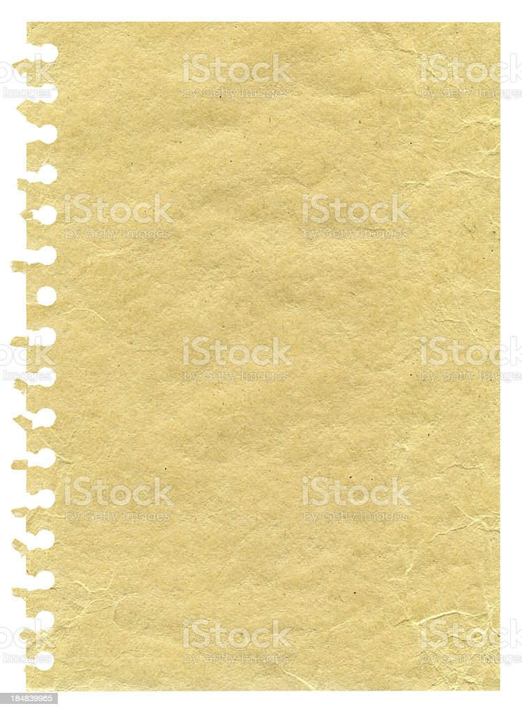 Notepad page paper background textured isolated royalty-free stock photo