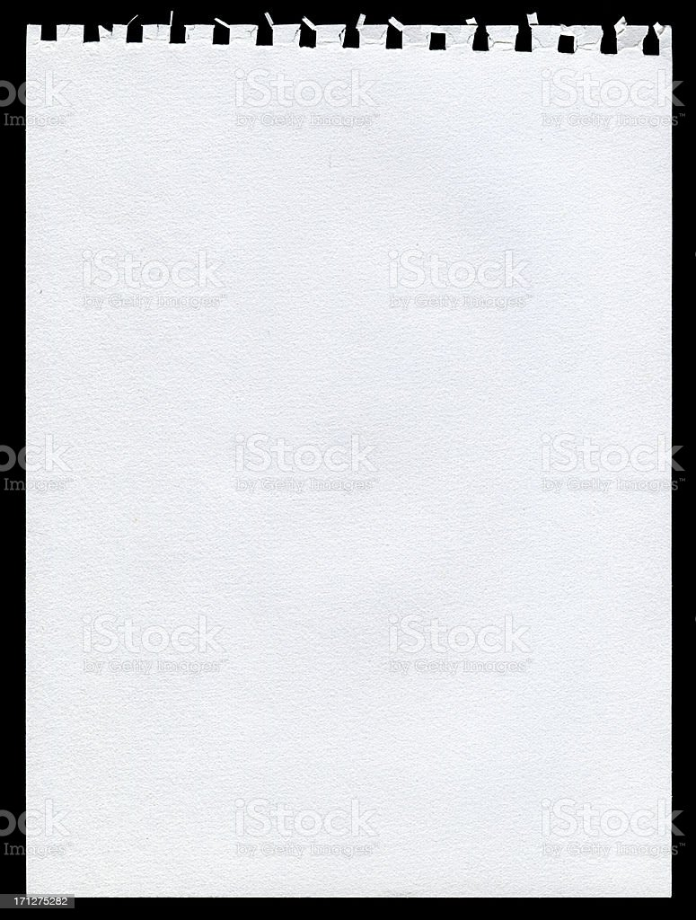 Notepad page paper textured background royalty-free stock photo