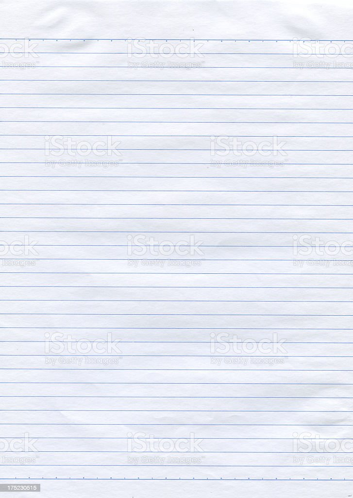 Notepad page stock photo