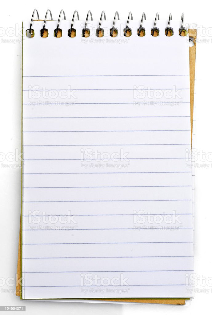 Notepad royalty-free stock photo