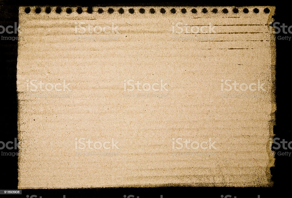 Notepad Print on Cardboard royalty-free stock photo