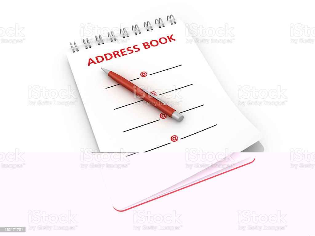 Notepad with Address Book and Pen royalty-free stock photo