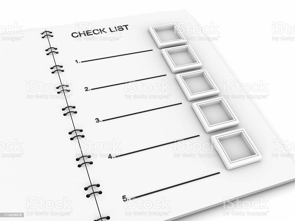 Notepad with Check List royalty-free stock photo
