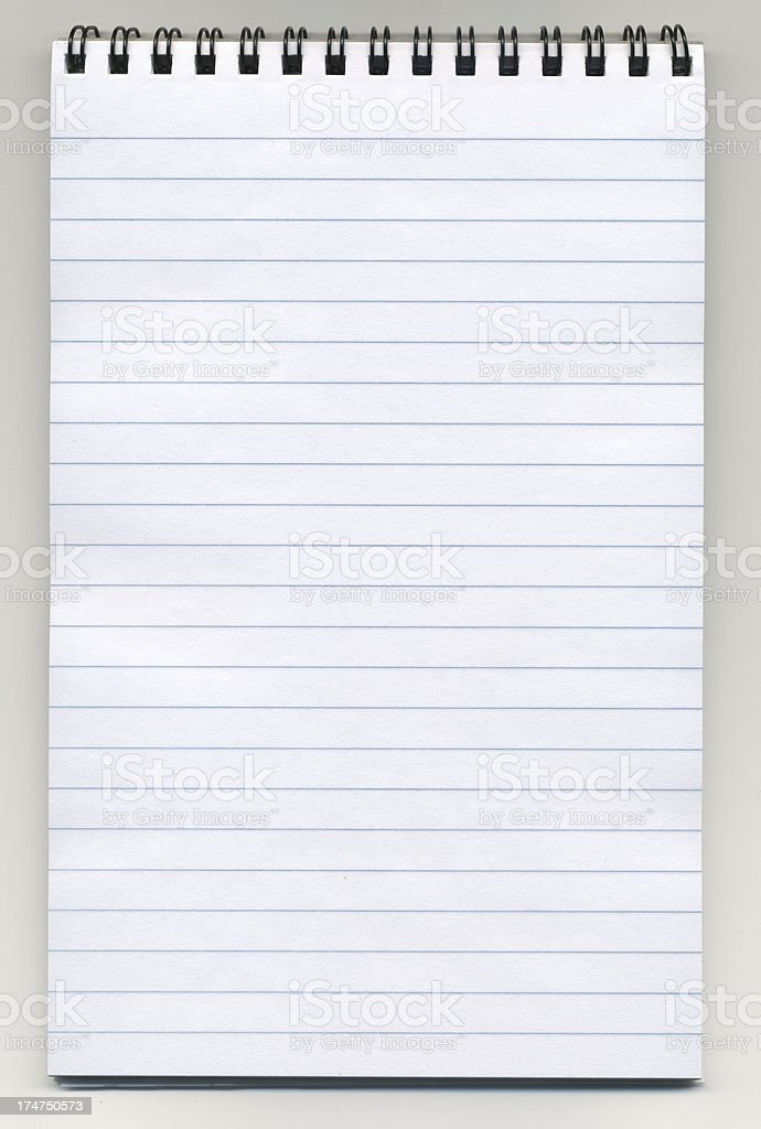 Notepad with clipping path stock photo