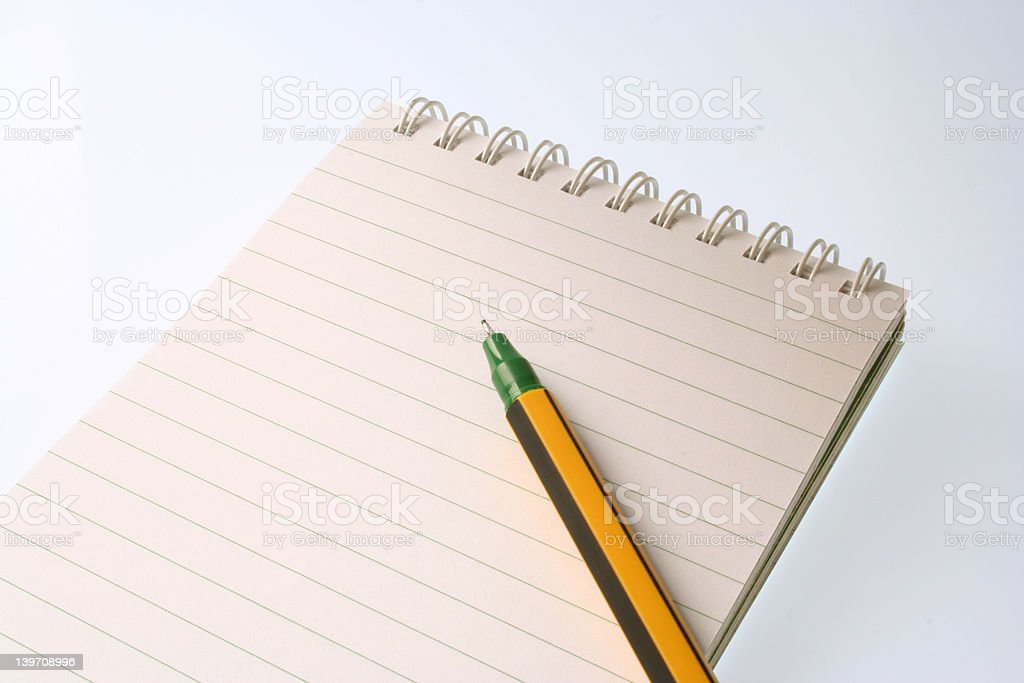 Notepad with Pen royalty-free stock photo