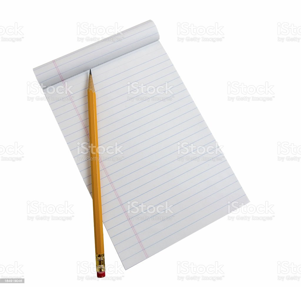 Notepad with Pencil stock photo