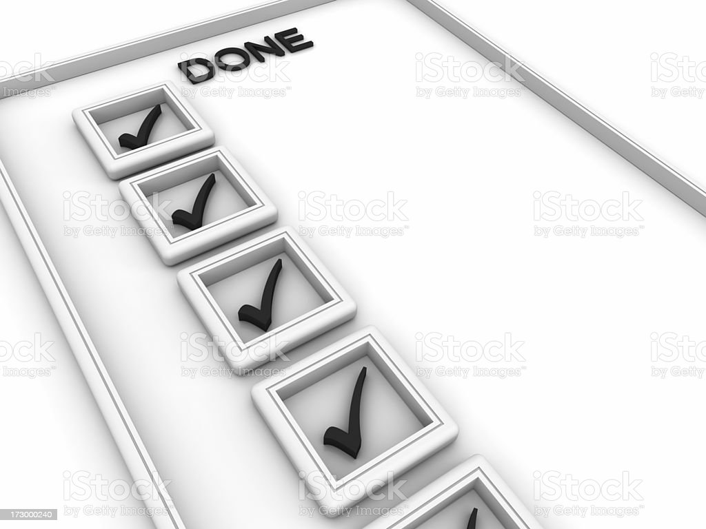 Notepad with To Do List royalty-free stock photo