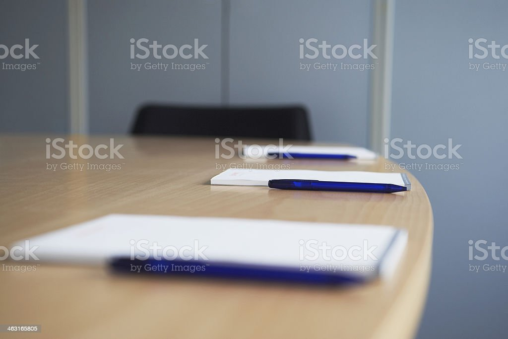 Notepads and Pens stock photo