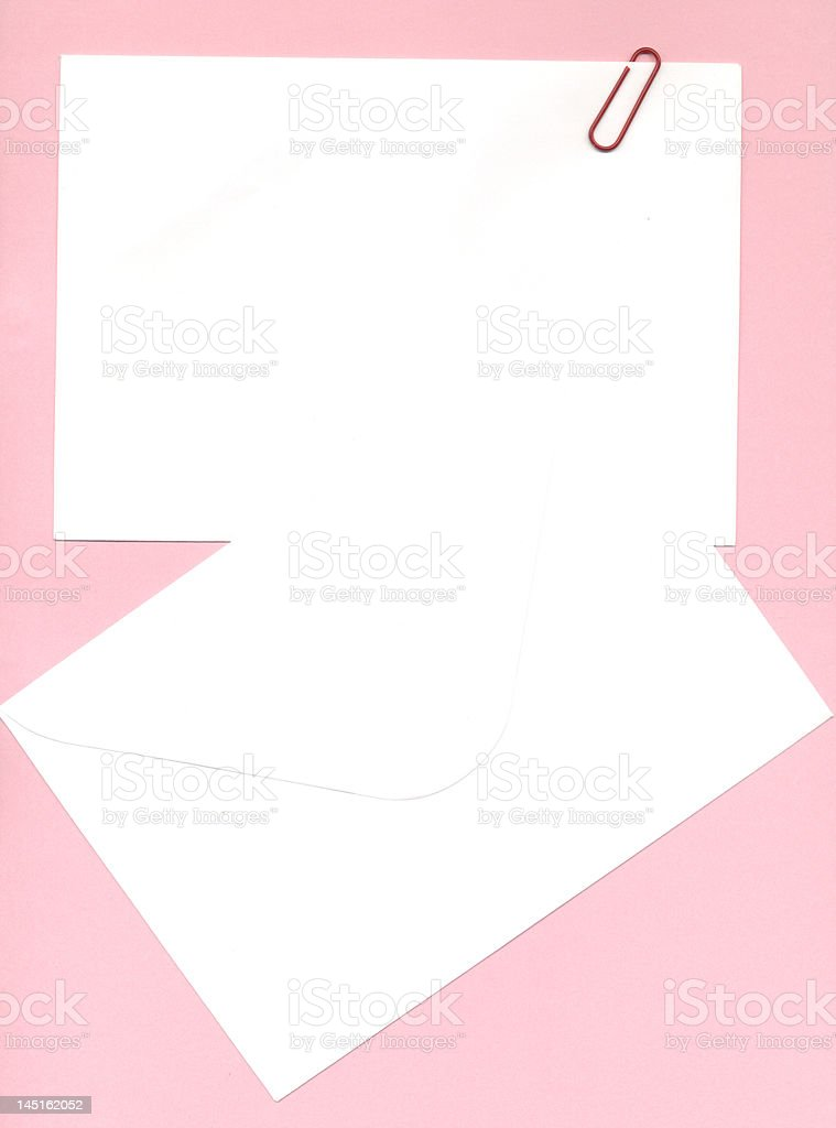 notepaper and envelope stock photo