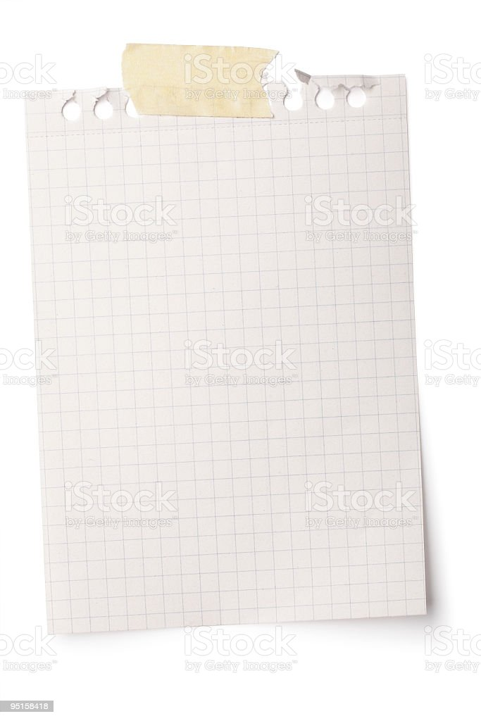 Notepaper page stock photo
