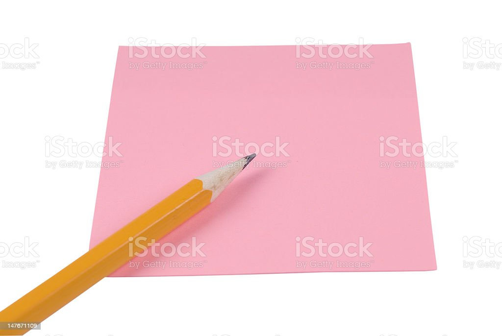 Notepaper With Pencil royalty-free stock photo