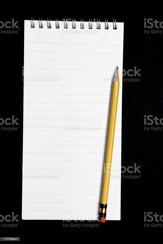 Noteped with Pencil stock photo