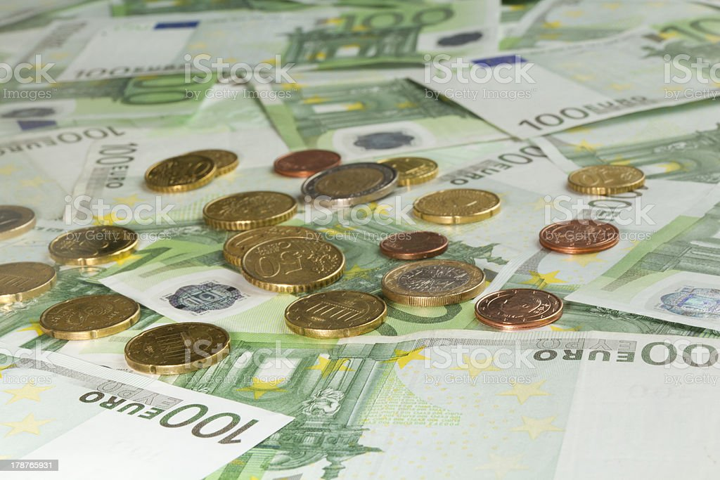 Notes & Coins royalty-free stock photo