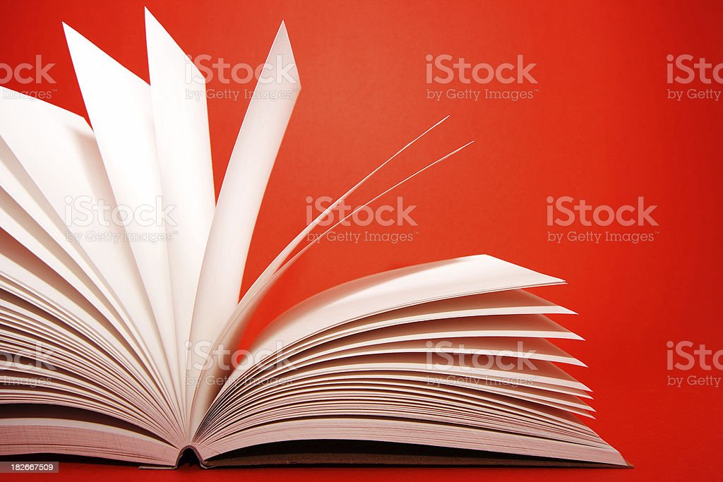 Notes in red stock photo