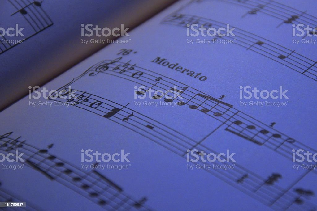 notes in the evening stock photo