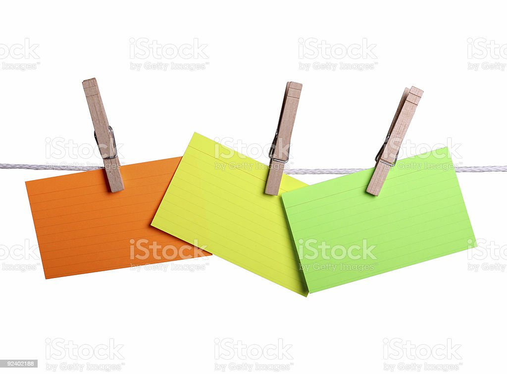 Notes on a Line stock photo
