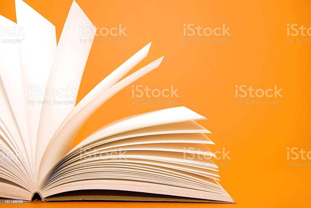 Notes on orange stock photo