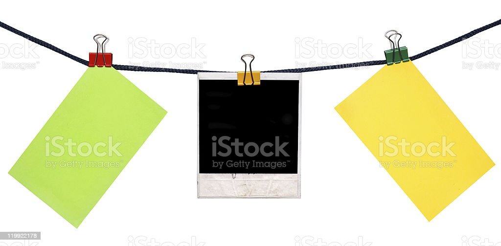 notes on rope royalty-free stock photo