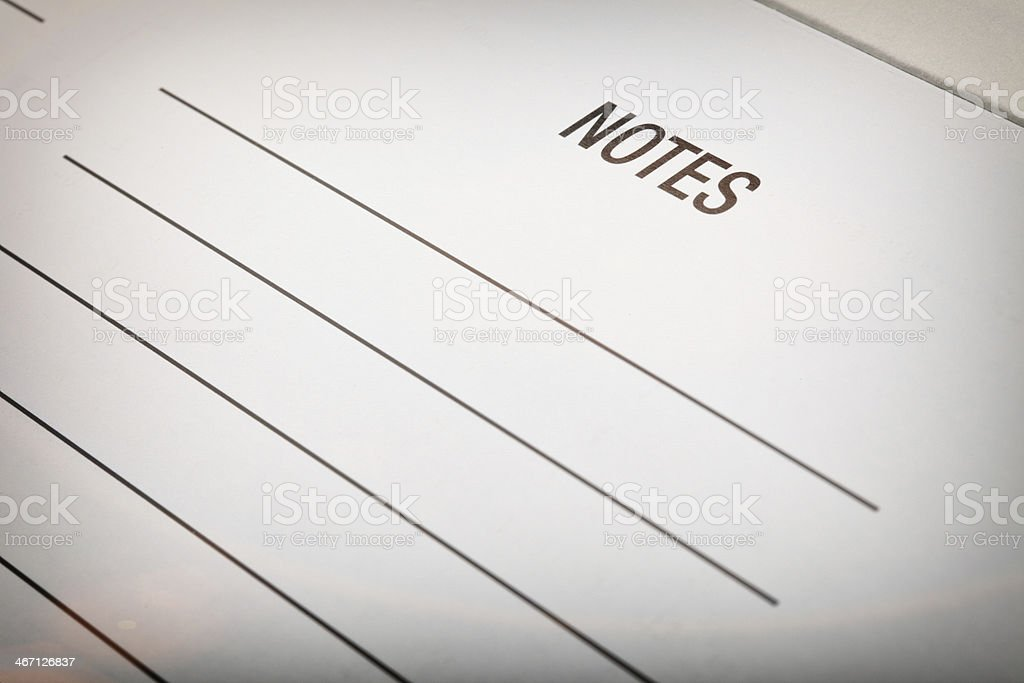 Notes Paper stock photo