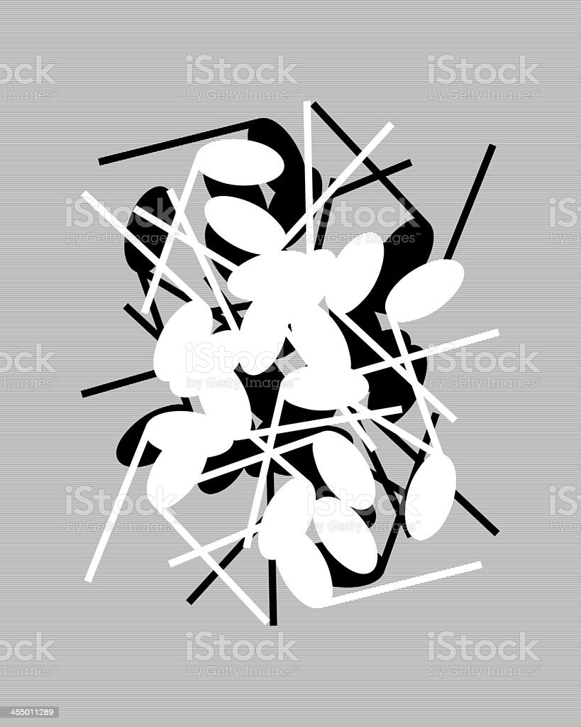 notes silhouettes black and white composition stock photo