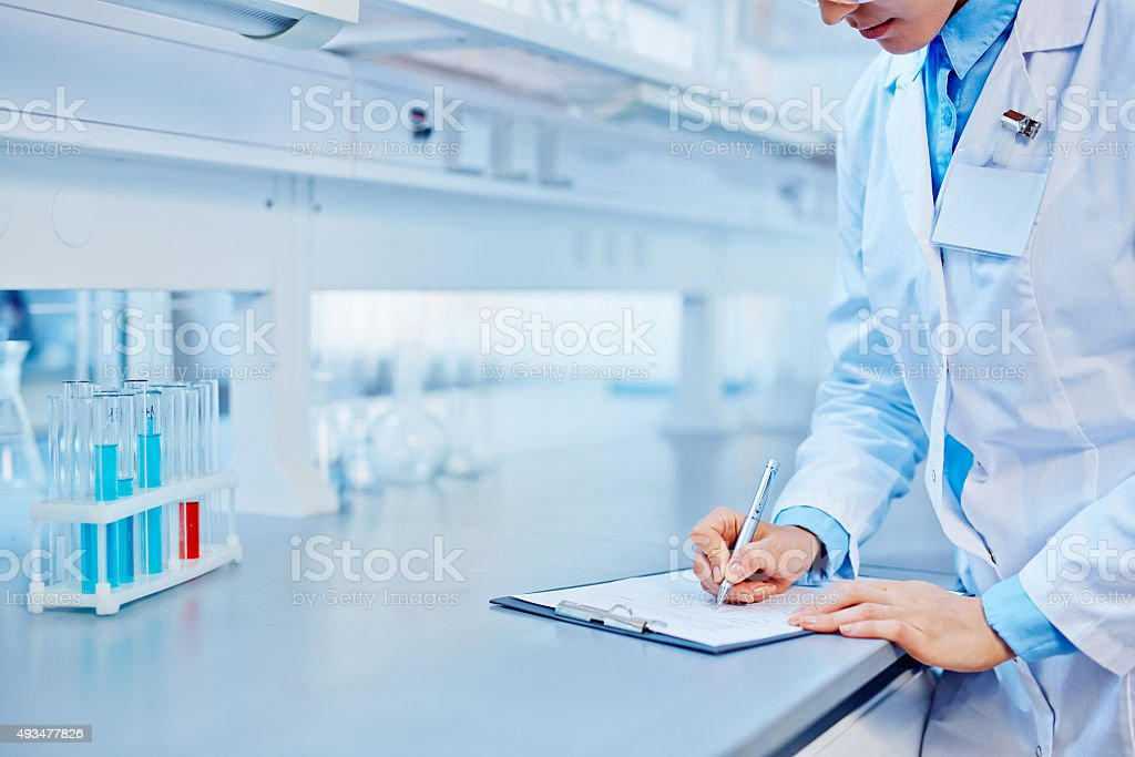 Notes upon research stock photo