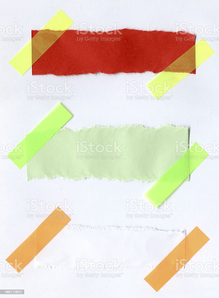 notes with masking tape royalty-free stock photo