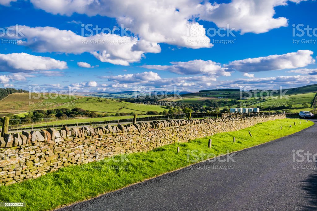 Noth West Countryside On Summer stock photo