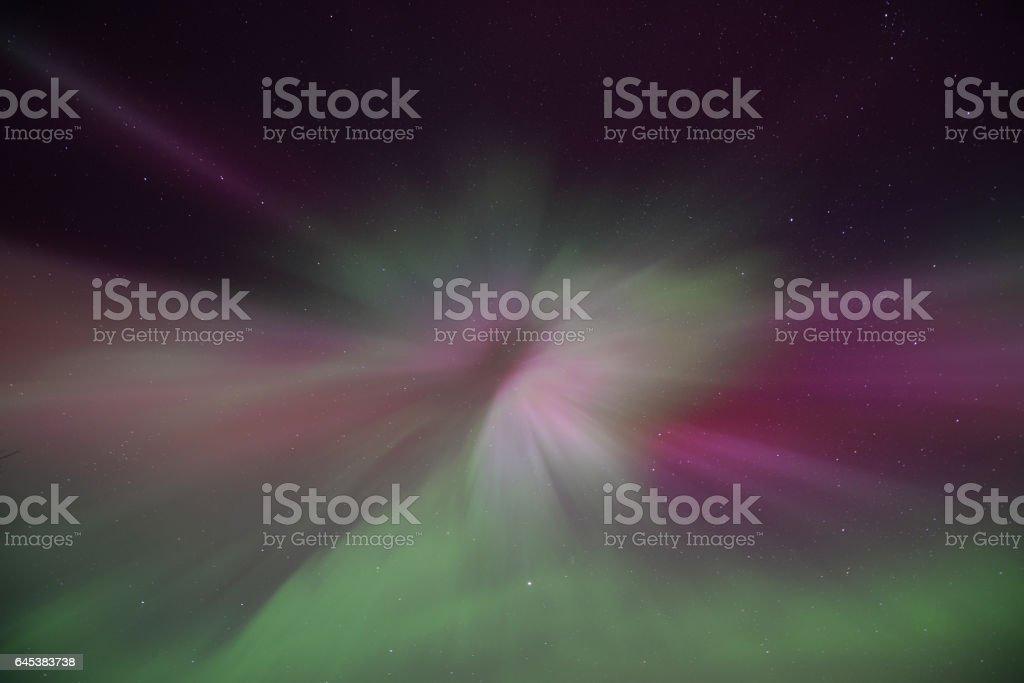Nothern light korona stock photo