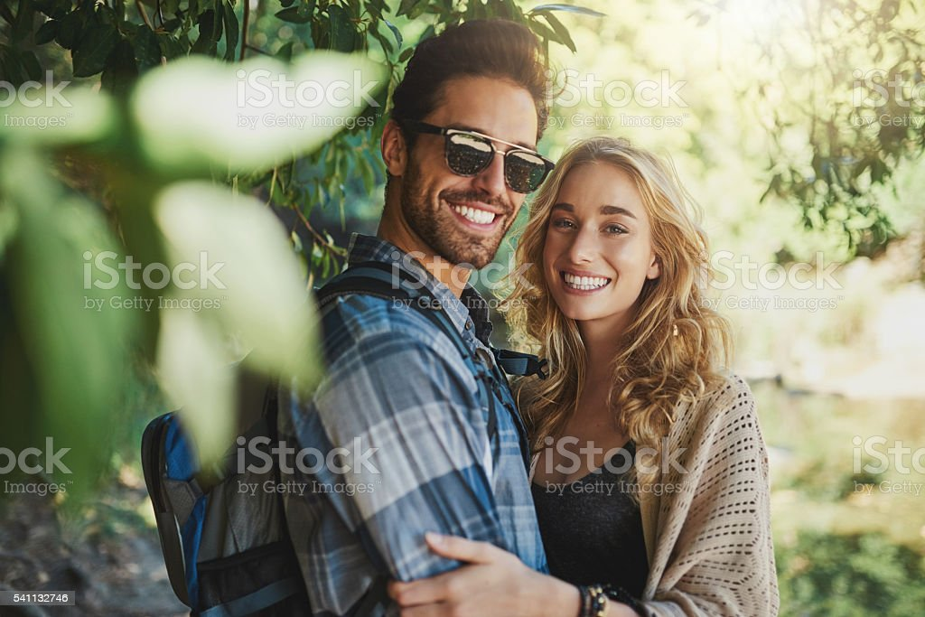 Nothing beats a day in nature together stock photo