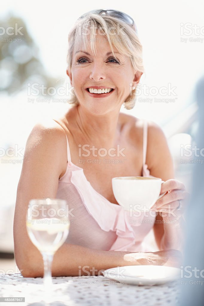 Nothing beats a good cup of coffee royalty-free stock photo