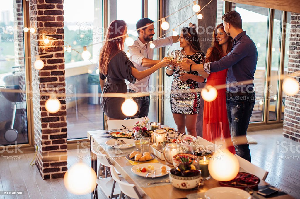 Nothing beats a good house party stock photo