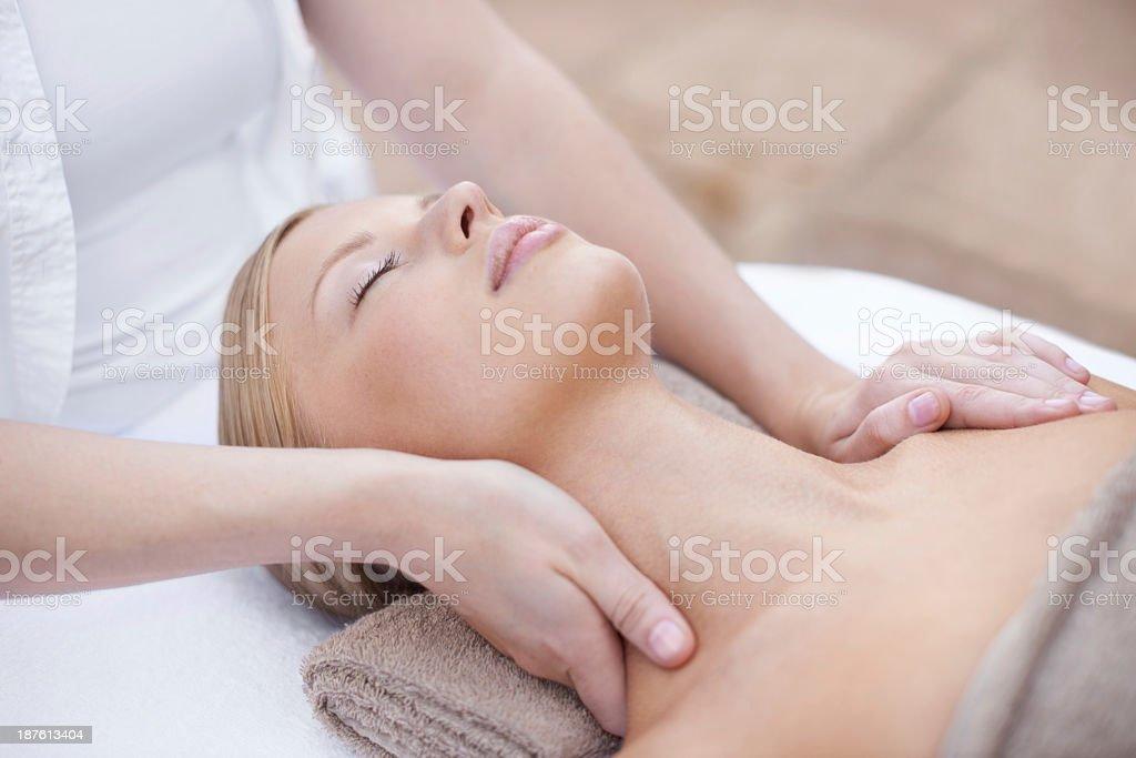 Nothing beats a good spa treatment stock photo
