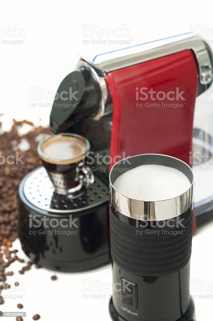 Nothing beats a morning coffee stock photo