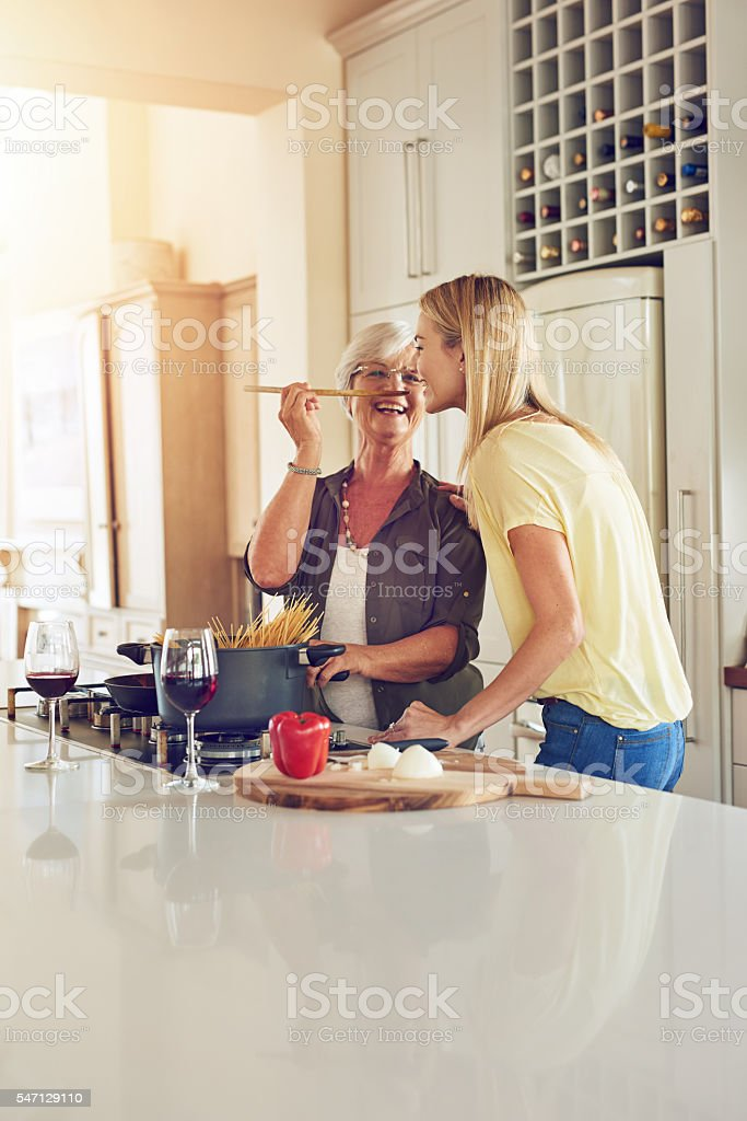 Nothing beats Mom's cooking stock photo