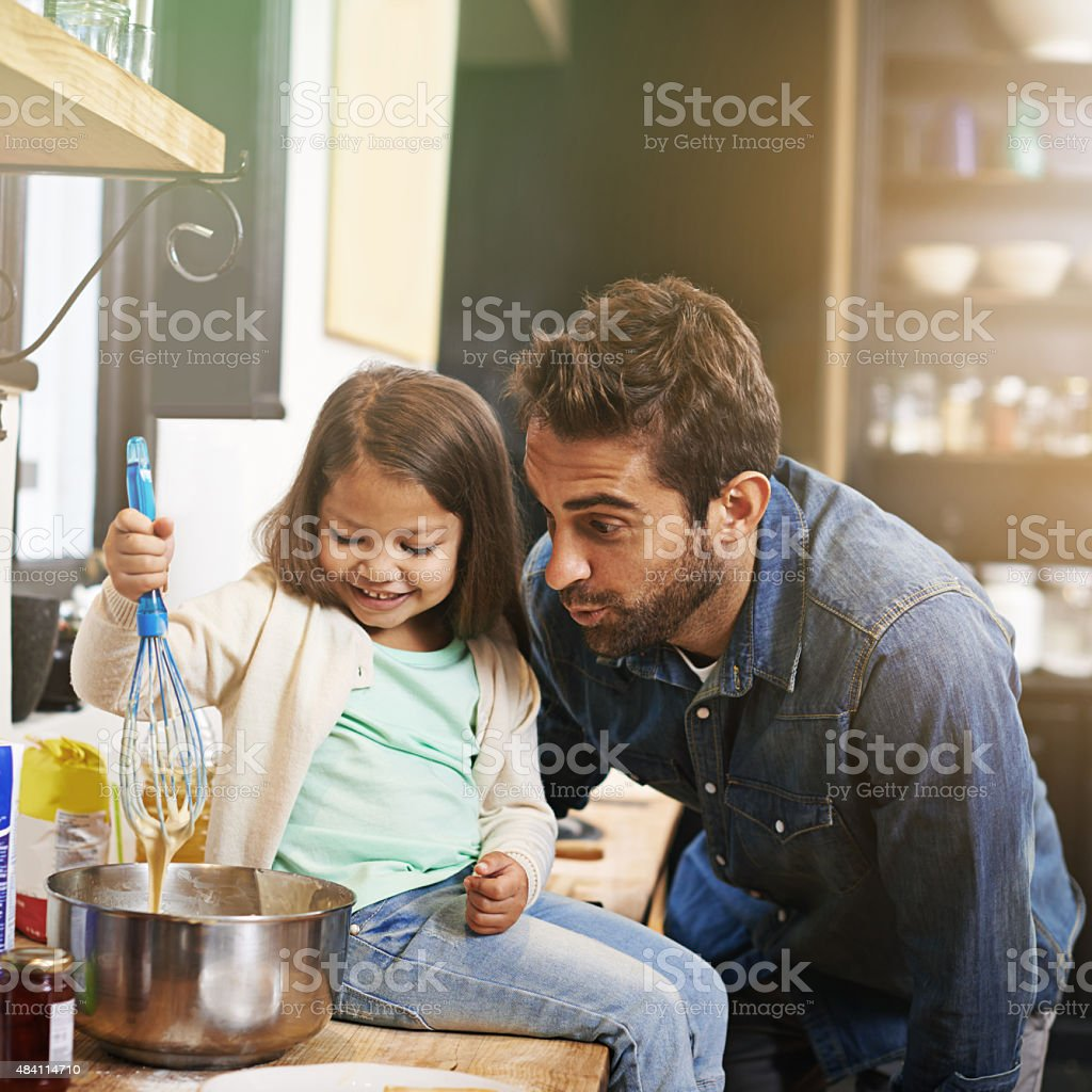 Nothing better than food, family and fun stock photo