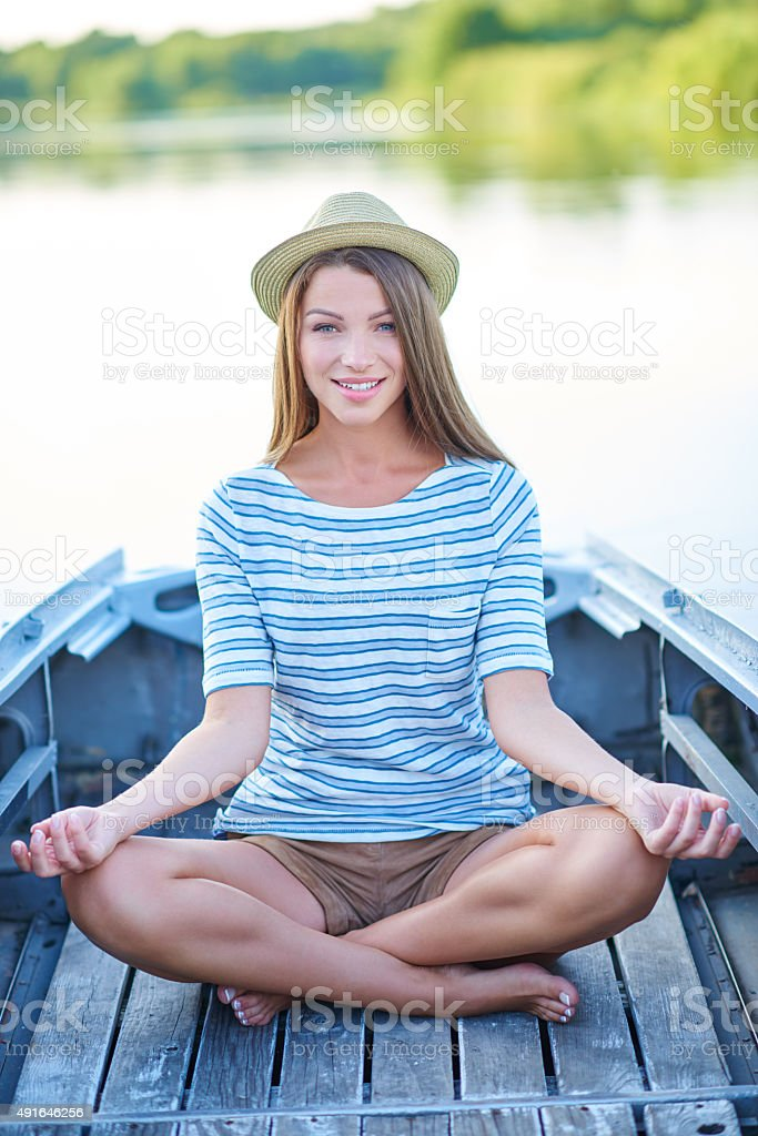 Nothing but good vibes out here stock photo