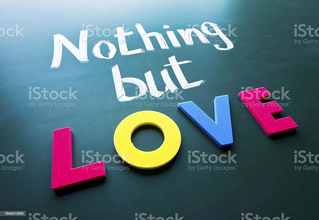 Nothing but love royalty-free stock photo